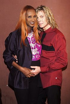David Bowie and wife Iman during David Bowie Concert at Roseland at Roseland in New York City, New York, United States. ღ David Robert Jones ❥ January 1947 ― 10 January ★ Iman And David Bowie, David Bowie T Shirt, David Bowie Starman, Iman Bowie, David Jones, David Bowie Pictures, The Thin White Duke, Major Tom, Thing 1