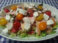 Kyra@Home: Salade met couscous, geitenkaas en forel