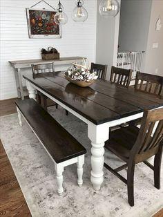 Stunning Rustic Farmhouse Dining Room Decor Ideas (56)
