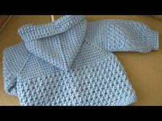 Erkek Bebek Kapşonlu Hırka Yapılışı 2. Bölüm - YouTube