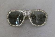 Nina Ricci 1970's Vintage Lucite & Rhinestone Sunglasses image 2