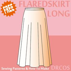 Longflaredskirt sewing patterns & how to make
