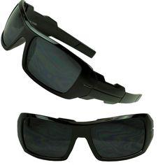 02cdf515ffc Mens Oversized Oil Rig Designer Black Wrap Casual Hardcore UV Sunglasses  Shades  Wrap. Sunglass Stop Shop