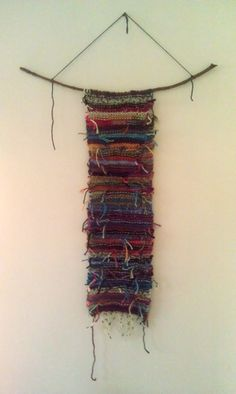 Distressed Knitted Wall Hanging by BrownFinches on Etsy, $35.00