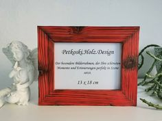 Etsy Shop, Home Decor, Wood Picture Frames, Craft Gifts, Handmade, Red, Nature, Colors, Dekoration