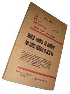 Os Meus Cadernos n.º 4 – Análise sumária do relatório das contas públicas de 1933-34 | VITALIVROS