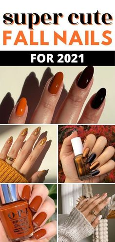 All the best fall nail trends, fall nail colors and fall nail ideas for fall 2021. fall nail ideas for 2021 fall nail colors opi fall nails 2021 fall nails acrylic coffin fall nails short fall…
