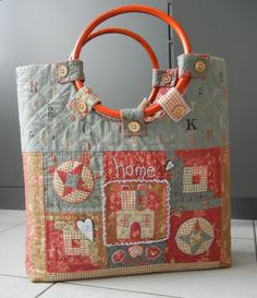 Quilt: Shoppingbag Handquilted, Januar 2015