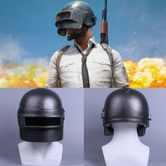 Game Player Unknown's Battlegrounds Helmet to eat chicken cosplay mask Halloween PUBG Halloween 2018, Halloween Costumes, Cosplay Helmet, Player Unknown, Soviet Army, Cosplay Tutorial, Level 3, Mens Caps, Cool Tools