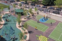 LandscapeOnline Design • Build • Maintain • Supply Modern Playground, Park Playground, Playground Design, Outdoor Playground, Auditorium Architecture, Cool Playgrounds, Outdoor Gym, Landscape Architecture Design, Parking Design