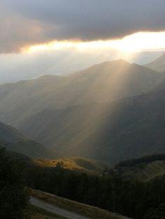 Tramonto a San Pellegrino in Alpe.