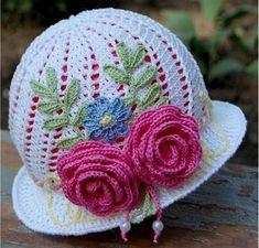 Детская летняя шляпка-панамка с розочками для украшения ,связана крючком,мастер-класс подробно по фото с описанием/4683827_20120526_102656 (516x494, 84Kb)