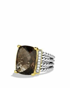 David Yurman Wheaton Ring with Smoky Quartz and Diamonds  Bloomingdale's