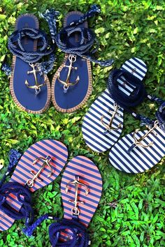 The perfect anchor sandals for your Crystal voyage! Anchor Sandals, Cute Sandals, Flat Sandals, Cute Shoes, Me Too Shoes, Shoes Sandals, Flat Shoes, Flipflops, Nautical Fashion