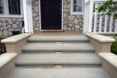 Our design for the concrete walkway includes concrete bull nose steps as you can… – modern landscape design front yard Front Yard Walkway, Front House Landscaping, Front Porch Steps, Modern Landscaping, Backyard Landscaping, Front Porches, Front Stairs, Landscaping Design, Concrete Front Steps