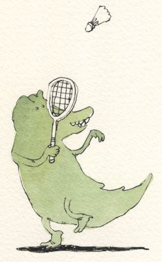 the badminton player by MattiasA on deviantART