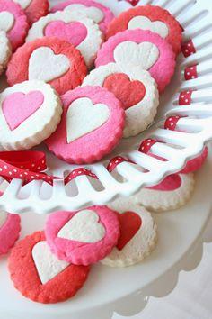 Two-Tone Heart Cookies