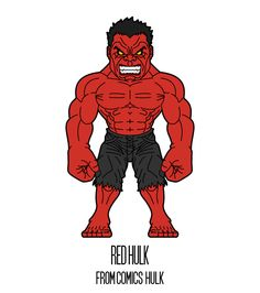 REDHULK  http://herosandvillains.tumblr.com/post/12234792536 by TM