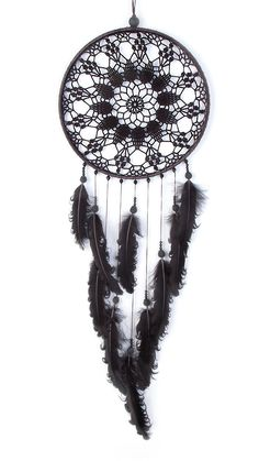 Large Black Dream Catcher Crochet Doily by DreamcatchersUA on Etsy