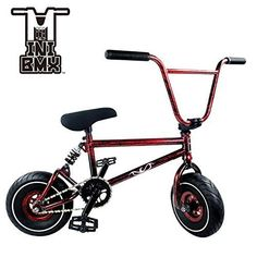 Mini BMX Freestyle Bike - Light Fat Tires With 3pce Crank & Spring Accessories For Pro To Beginner - These Bad Boy Bicycles Are Great For Stunt Trick & Racing (Red Splash) By RIDE 858 #cyclingforbeginnersbiking