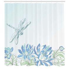 Home Green Shower Curtains Girly Decor Simplistic Design