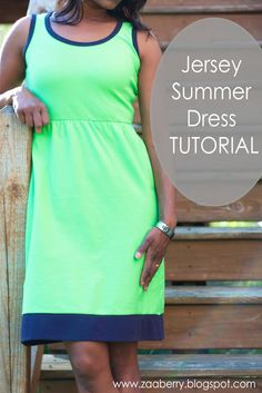 Quality Sewing Tutorials: Jersey Summer Dress tutorial from Zaberry