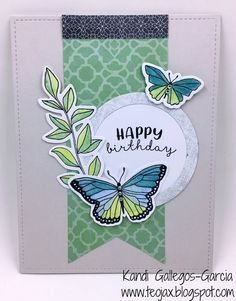 teojax: Happy Birthday - Watercolor Butterflies, Chelsea Gardens, Chelesea Gardens - Cardmaking, Close to My Heart, CTMH, Thin Cuts, Watercolor Pencils