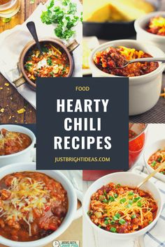 These quick and easy chili recipes are healthy and kid friendly too. They're perfect for lazy winter evenings or tailgating! Hearty Chili Recipe, Chili Recipes, Easy Recipes, Easy Meals, Tailgating, Thanksgiving Recipes, Lazy, Pumpkin, Yummy Food
