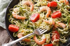 For a delectable way to squeeze more vegetables into your diet, look no further than this Zucchini Pasta with Shrimp and Tomatoes recipe!