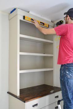 Installing Bedroom Built Ins | Built Ins, Dresser Bookshelf And Bookcases