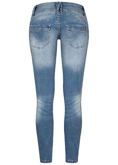 Seventyseven Lifestyle Damen Skinny Jeans Hose 5-Pockets 3er Knopfleiste hell blau Brave, Hip Hop, Urban Surface, Madonna Mode, Streetwear Shop, Young Fashion, Street Wear, Skinny Jeans, Pants