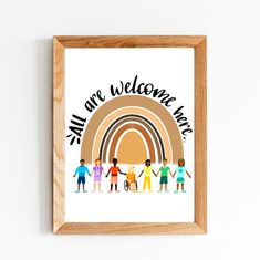 Physical Print Diversity Poster All Are Welcome Here | Etsy Art Classroom Posters, Classroom Wall Decor, Teacher Classroom Decorations, Classroom Walls, Classroom Ideas, Future Classroom, Punctuation Posters, Grammar Posters, Diversity Poster