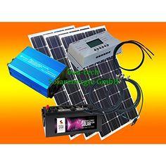 Luxury Komplette V Solaranlage T V Qualit ts Akku wartungsfrei W Hochleistungs Solarmodul W Qualit ts