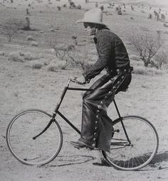 Steve McQueen. This is during the filming of Tom Horn, his penultimate movie. He knew he had inoperable Cancer at this point. The morose script somehow reflected his life. Despite this weight on his shoulders, here he is, loving all things two wheeled, simply jumping on an old bike for a spin in the desert. He was pure of heart. RIP.