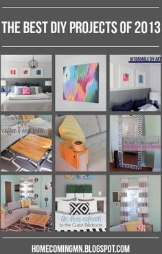 Best DIY's of 2013 // Home Coming