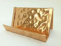 Raw Copper Hammered Business Card Holder by YanceyLighting on Etsy, $10.00