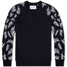 Our Legacy Splash 50s Sweater (Black Embroidered Plants) Mens Fashion  Casual Wear 0fa431be7604