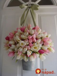 Spring Wreath Tulip Wreath Pink Wreath by EverBloomingOriginal Spring Door Wreaths, Easter Wreaths, Summer Wreath, Wreaths For Front Door, Holiday Wreaths, Pink Wreath, Tulip Wreath, Floral Wreath, Mothers Day Wreath