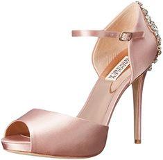 Badgley Mischka Women's Dawn Dress Sandal, Blush, 7 M $245.00