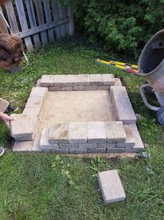 DIY Fire Place/Pit : 6 Steps (with Pictures) - Instructables Fire Pit Landscaping, Fire Pit Backyard, Landscaping With Rocks, Diy Outdoor Fireplace, Backyard Fireplace, Fireplace Ideas, Easy Fire Pit, Cool Fire Pits, Cinder Block Fire Pit
