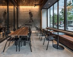 Starbucks Reserve Coffees Showcased in New Atlanta Store - Cafe - Starbucks Shop, Starbucks Reserve, Starbucks Coffee, Atlanta, Study Cafe, Work Cafe, Cafe Concept, Pizzeria, Industrial Cafe