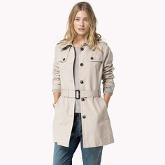 Tommy Hilfiger New Heritage Trench Coat - new taupe (Brown) - Tommy Hilfiger Coats - main image