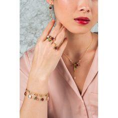 Collier petite fleur rose, bijoux fantaisie, romantique, parure, Paris