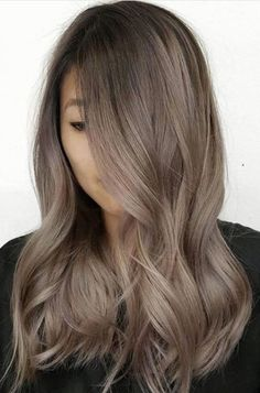 Long Wavy Ash-Brown Balayage - 20 Light Brown Hair Color Ideas for Your New Look - The Trending Hairstyle Hair Color Balayage, Blonde Color, Haircolor, Ash Balayage, Beige Hair Color, Balayage Highlights, Ash Brown Hair Color, Ash Brown Ombre, Light Ash Brown Hair