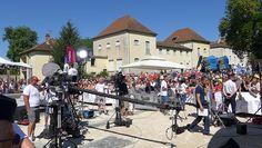 """Tournage """"Village Départ"""" - France 3 au Parc de Brou à Bourg-en-Bresse le Dimanche 17 juillet 2016"""