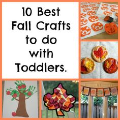 Favorite Fall Art Projects to do with Toddlers - fall crafts