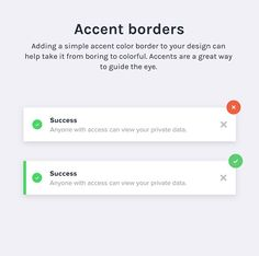 Adding a simple accent color border to your design can help take it from boring … Adding a simple accent color border to your design can help take it from boring to colorful. Accents are a great way to guide the eye. Form Design Web, Web Design Tips, App Ui Design, Interface Design, Design System, Tool Design, Ui Design Principles, Page Web, Ui Design Inspiration