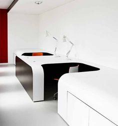 Futuristic Office Desk Interior