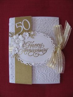 50th Anniversary Card - front by ixfquiller - Cards and Paper Crafts at Splitcoaststampers