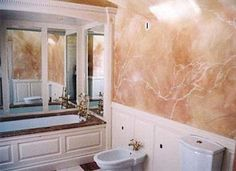 faux painting for bathroom - Google Search